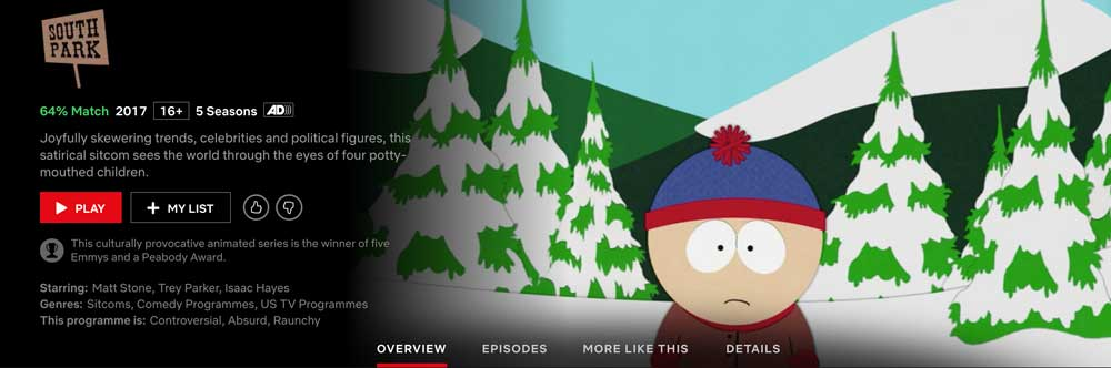 Is South Park on Netflix