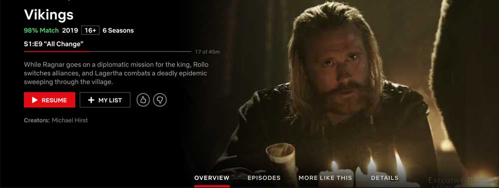 Vikings - what seasons are on Netflix?