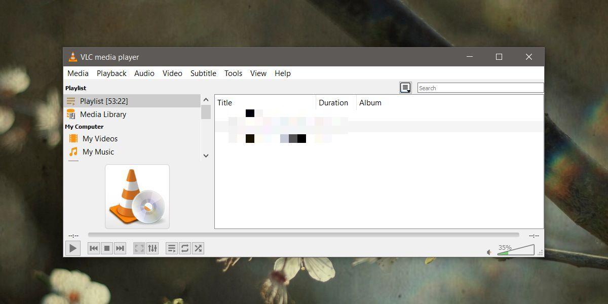 playlist in VLC
