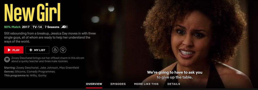 Is New Girl on Netflix?