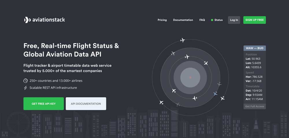 Real-time-Flight-Status-&-Global-Aviation-Data-API