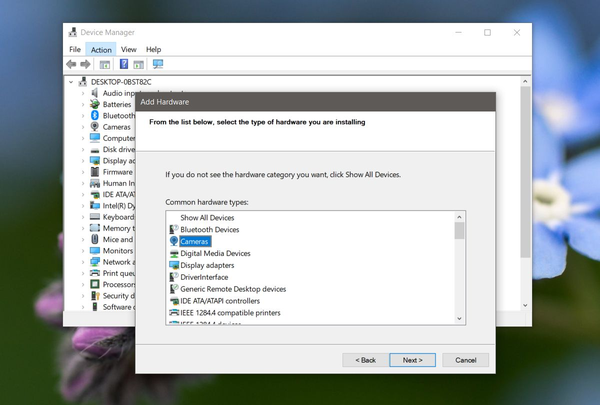 device manager webcam 3