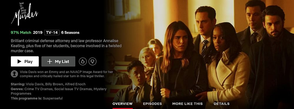 How to Get Away with Murder on Netflix