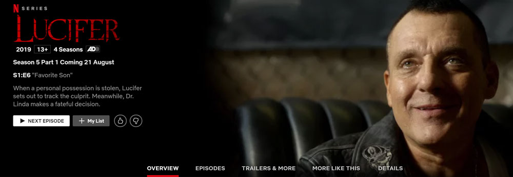 How to Watch Lucifer on Netflix from Anywhere