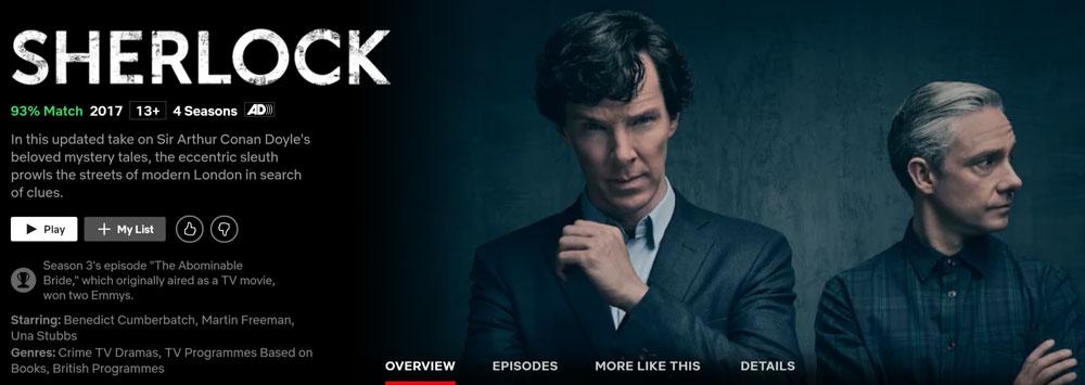 How to Watch Sherlock on Netflix