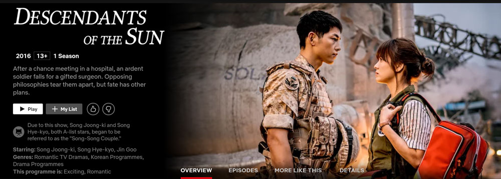 How to Watch Descendants of the Sun on Netflix in the US
