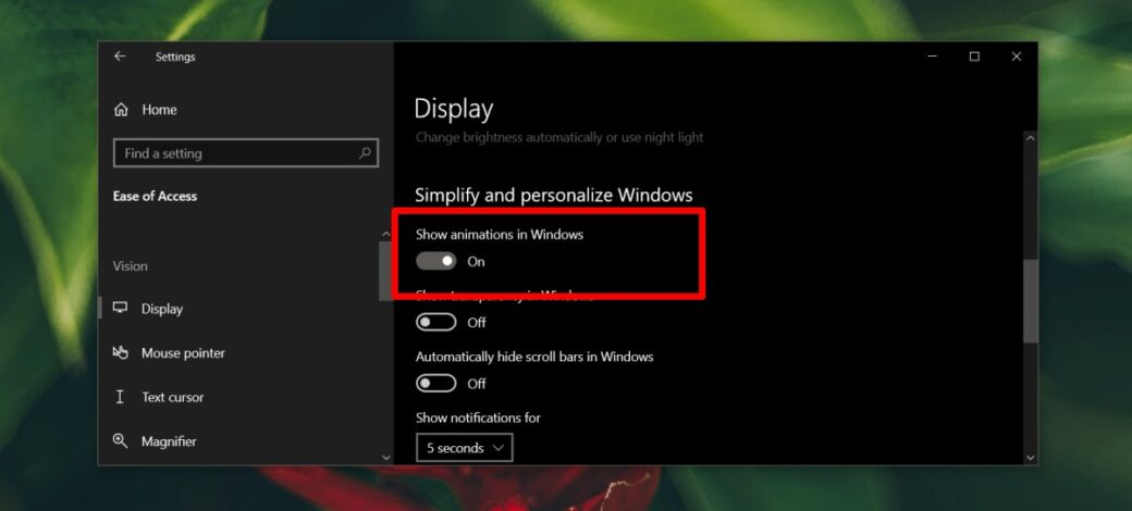 How to enable/disable screenshot flash on Windows 10