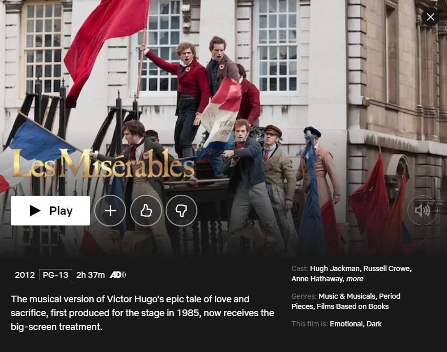 LesMiserables Netflix VPN