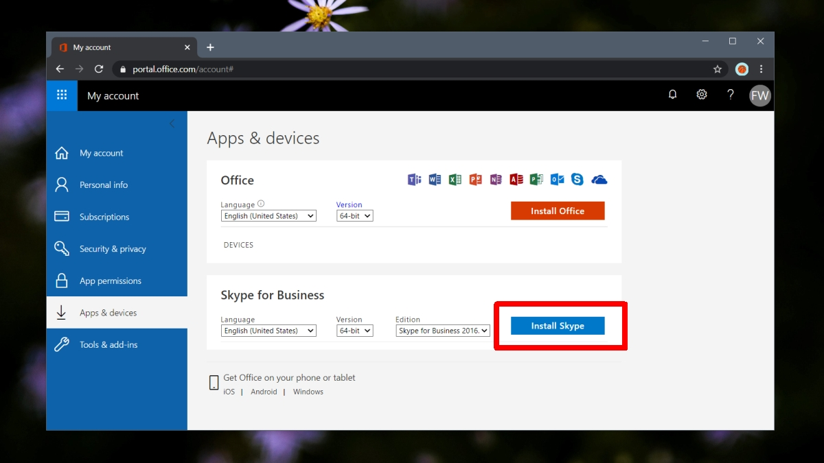 skype for business ms 365