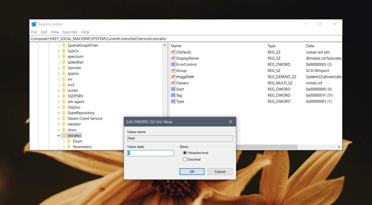 Enable ACHI in Windows 3