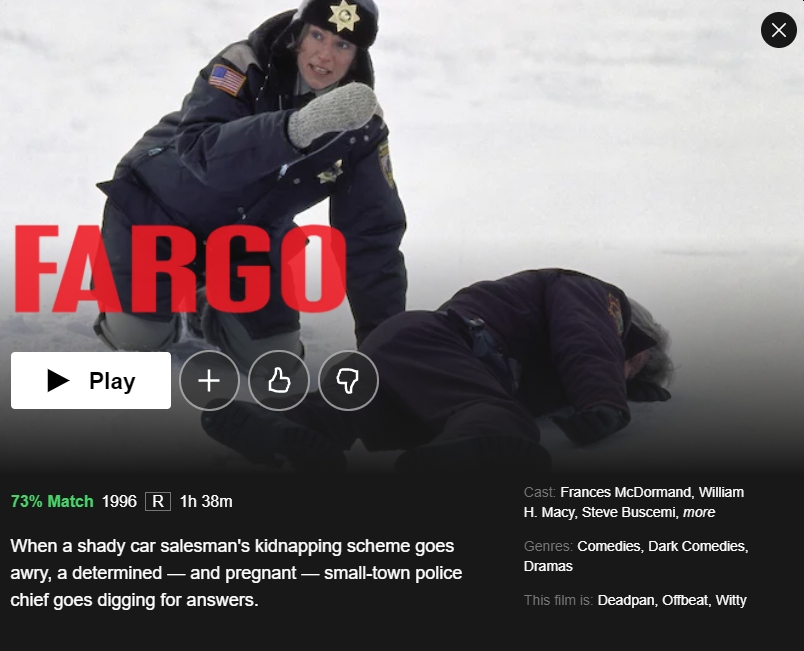 'Fargo' on Netflix