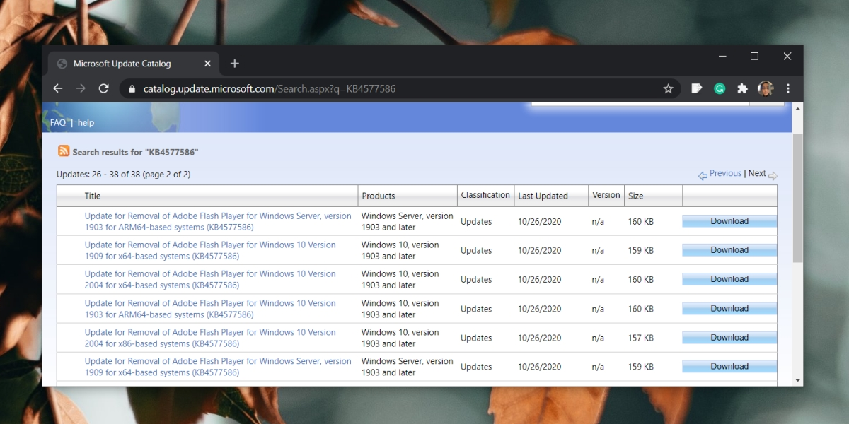 KB4577586 windows update