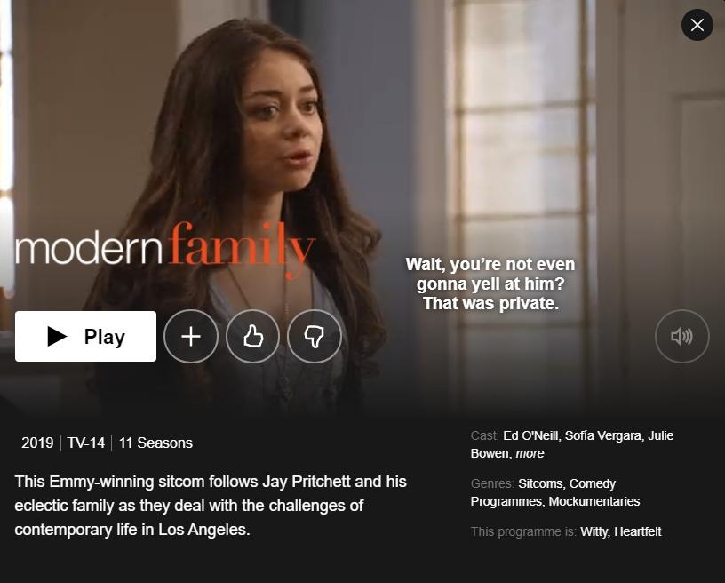 Modern Family On Netflix