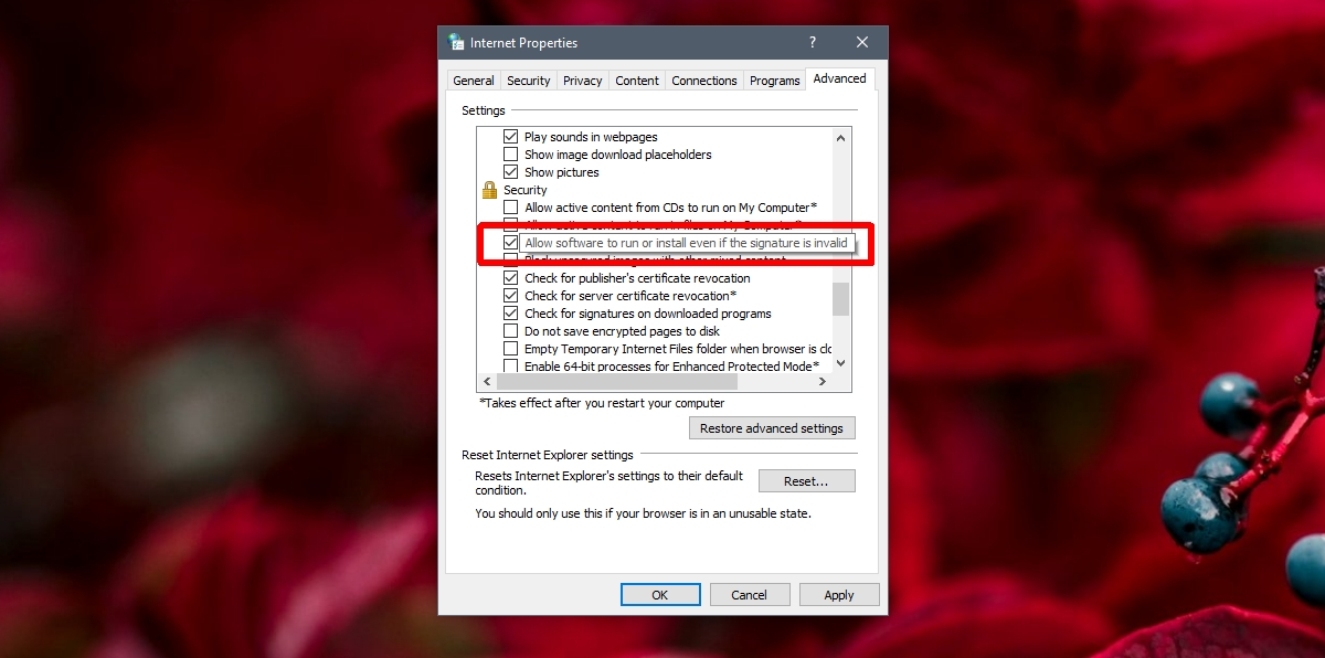 win 10 security settings