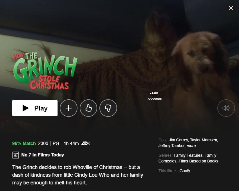 Watch The Grinch on Netflix