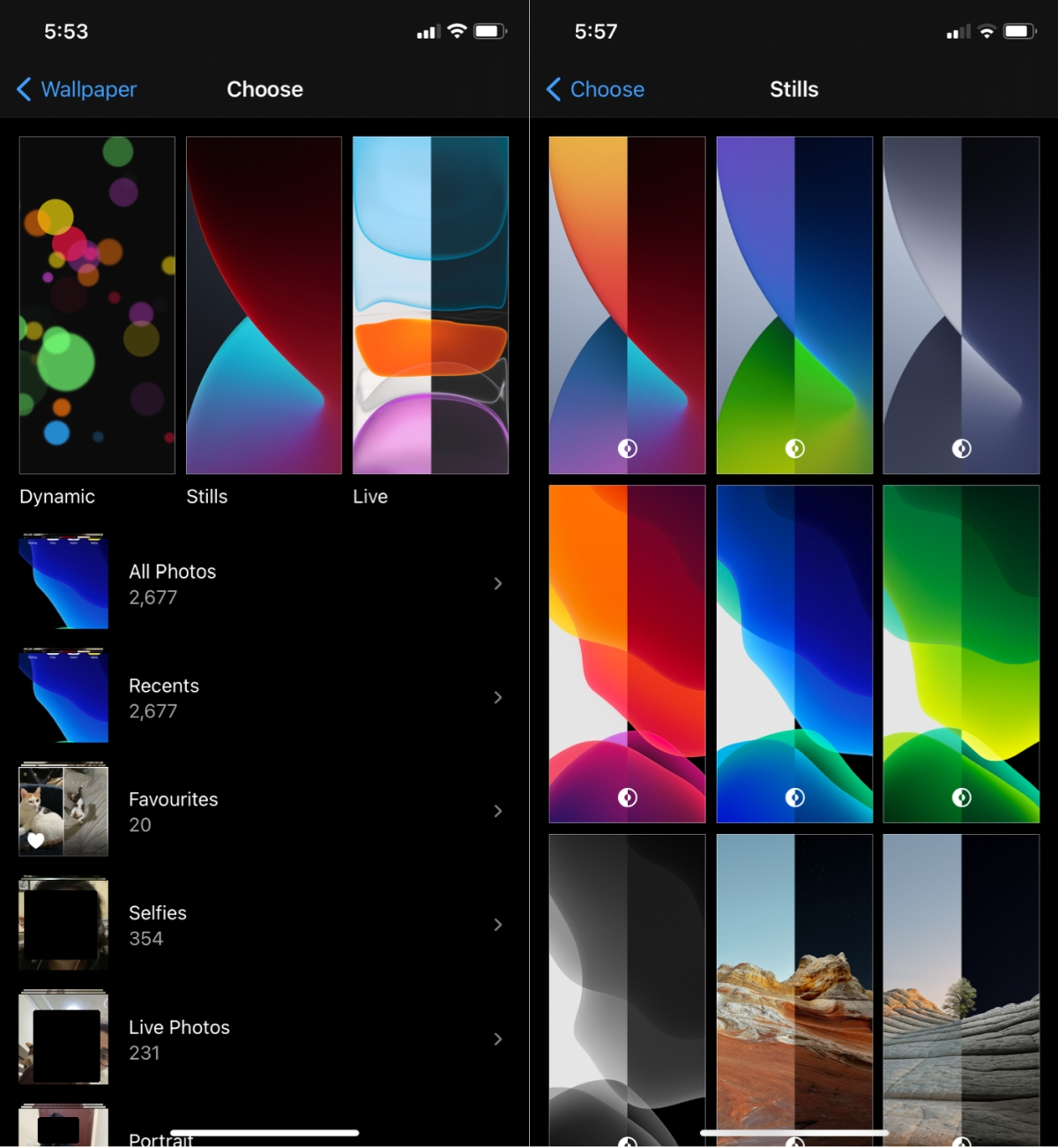 ios dark light wallpaper 1