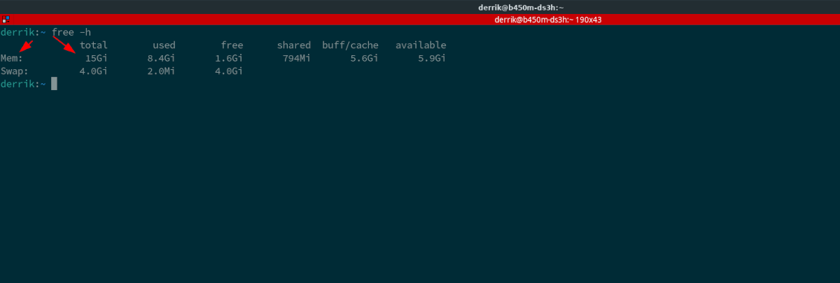 linux check RAM size