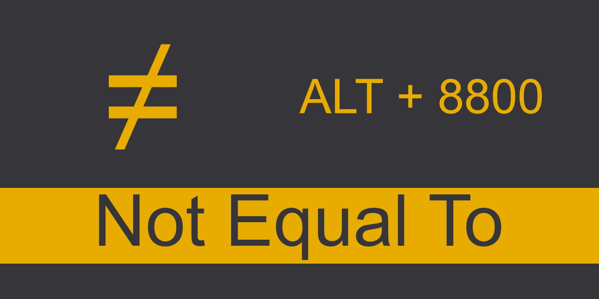 Does not equal sign