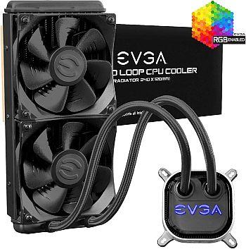 EVGA CLC 240mm All-In-One RGB LED CPU Liquid Cooler