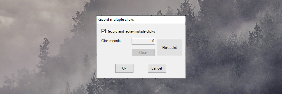 GS Auto Clicker displays the option for recording multiple clicks