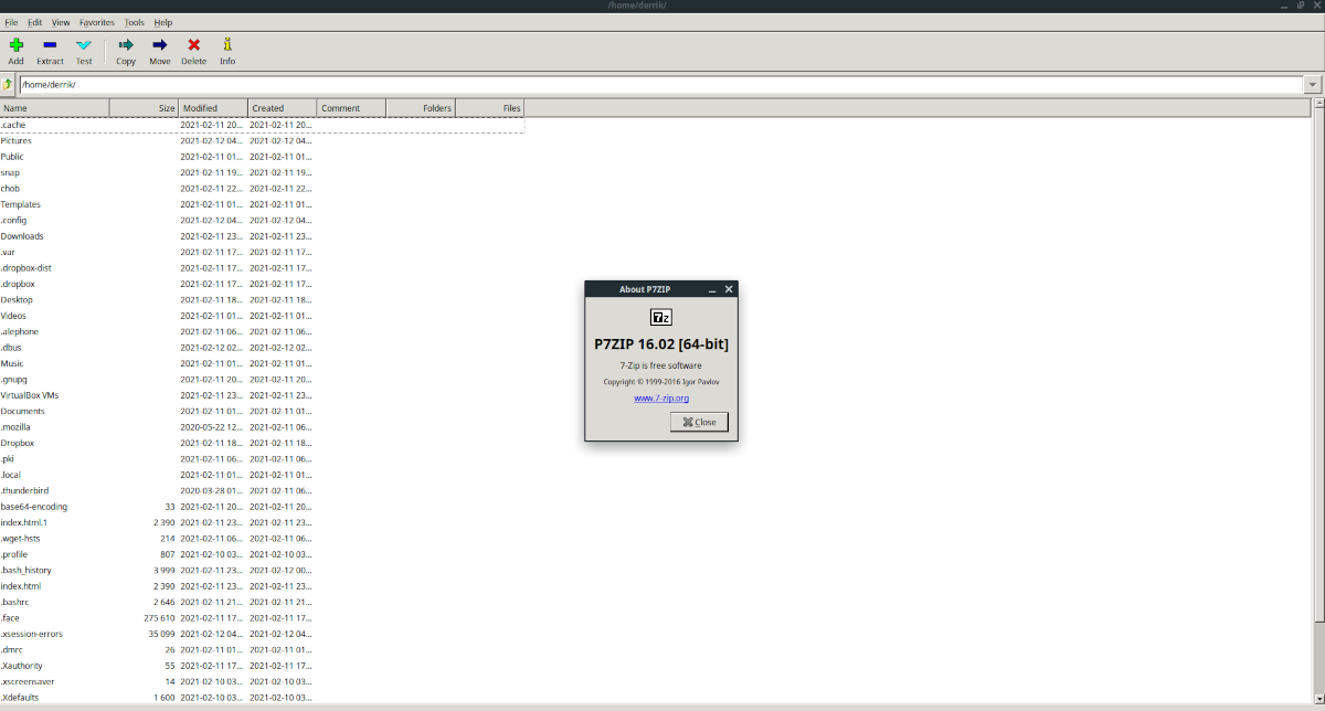 7zip Linux installation