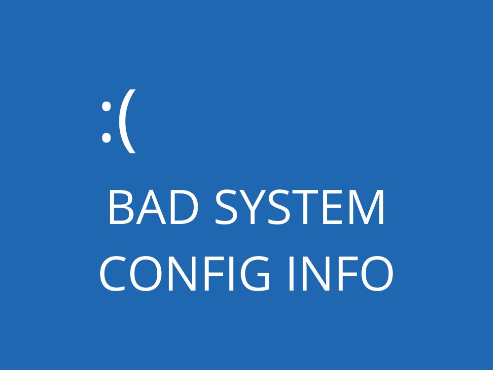 fix BAD SYSTEM CONFIG INFO