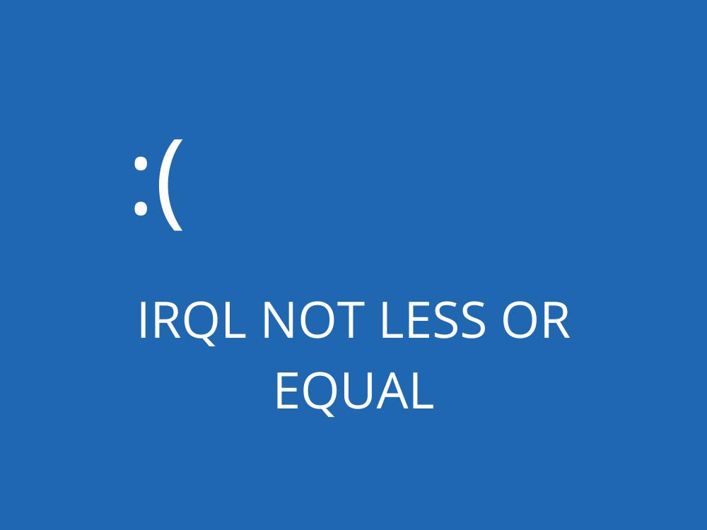 fix IRQL NOT LESS OR EQUAL