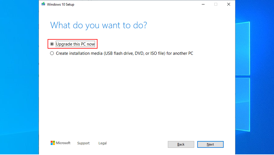 Media Creation Tool shows how to upgrade your PC