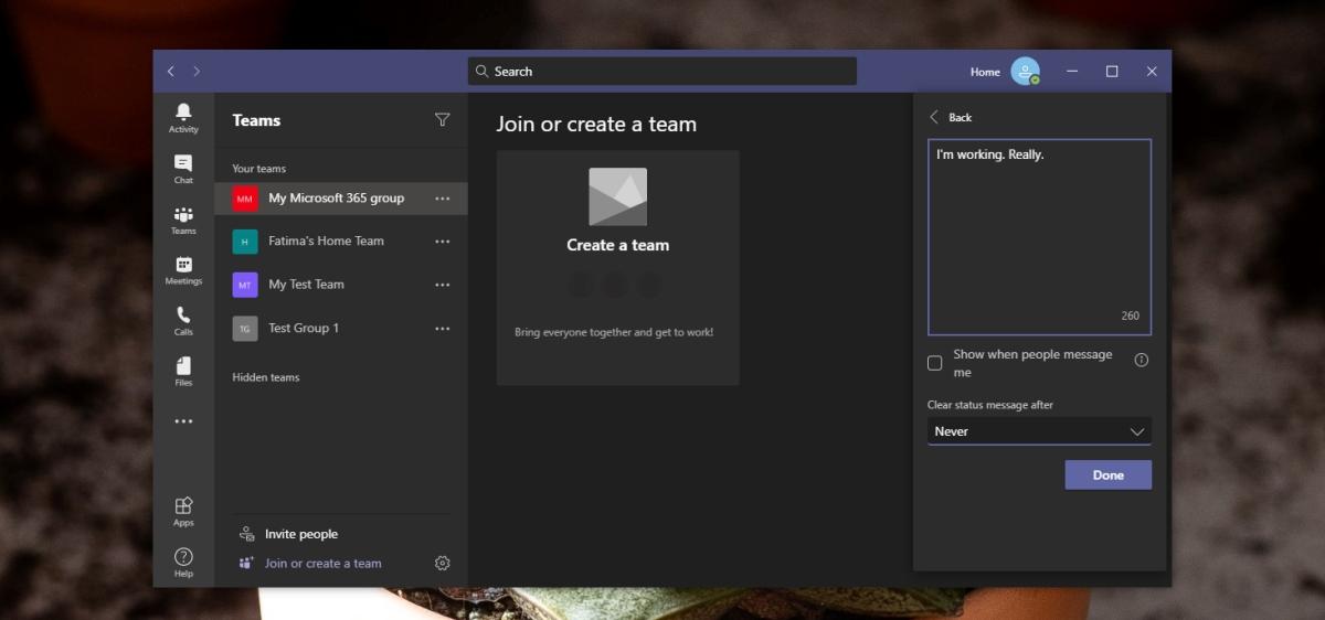 Microsoft Teams Away status