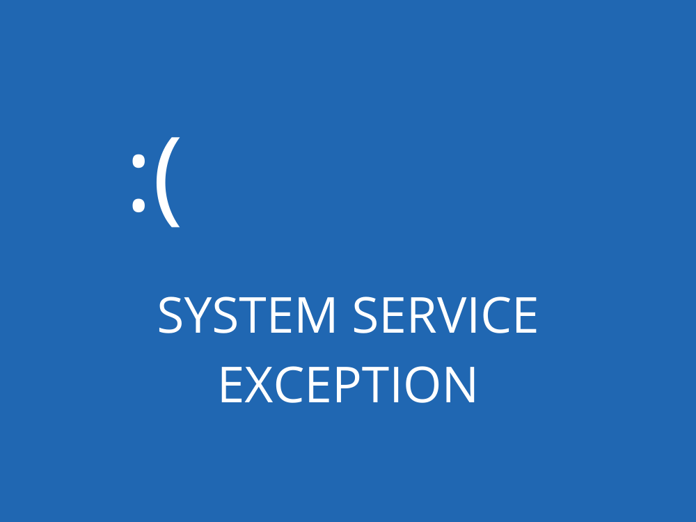 System Service Exception (BSOD Error)