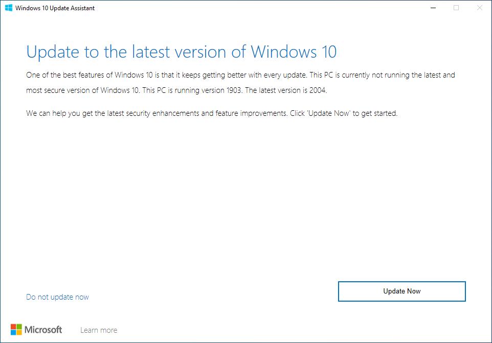 Windows 10 download assistant