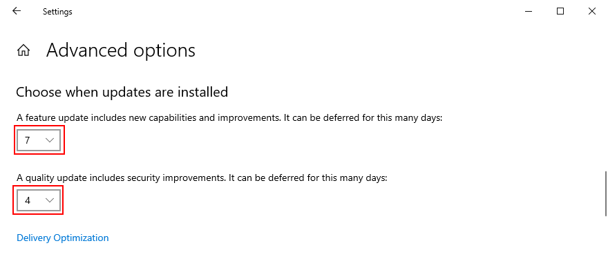 Windows 10 shows how to choose when updates are installed