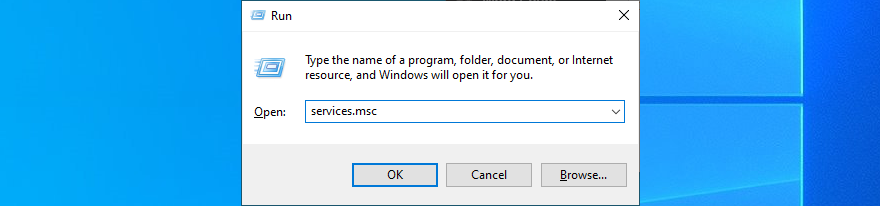 Windows 10 shows how to run services.msc