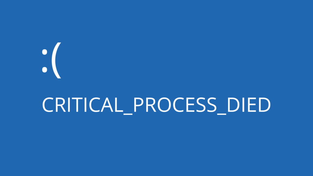 Stop Code Critical Process Died