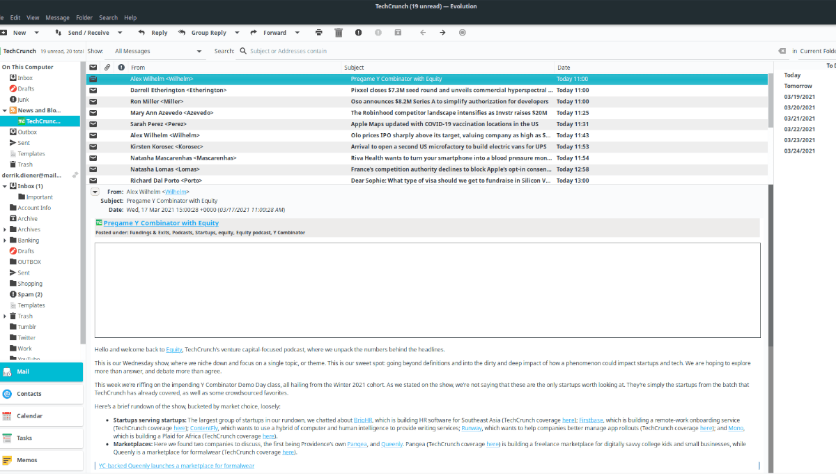 Evolution RSS reader plugin