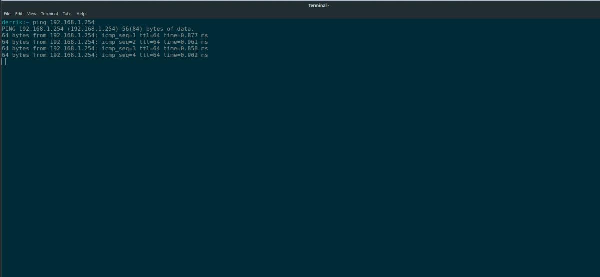 Ubuntu ping computer