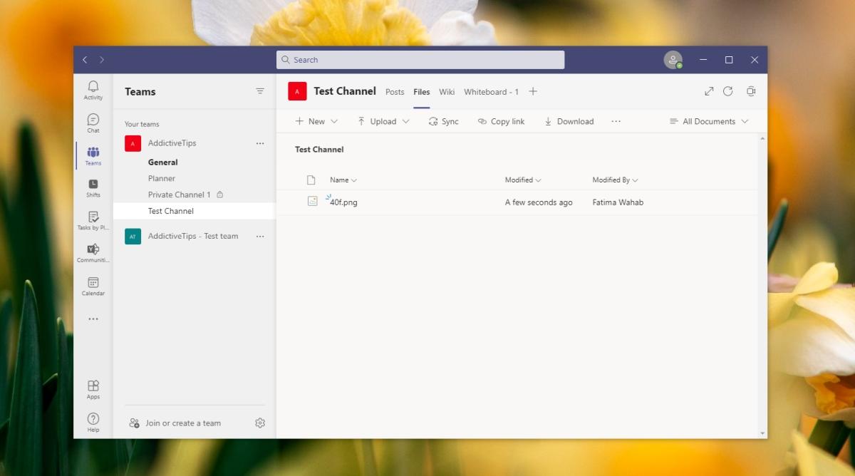 upload files to Microsoft Teams