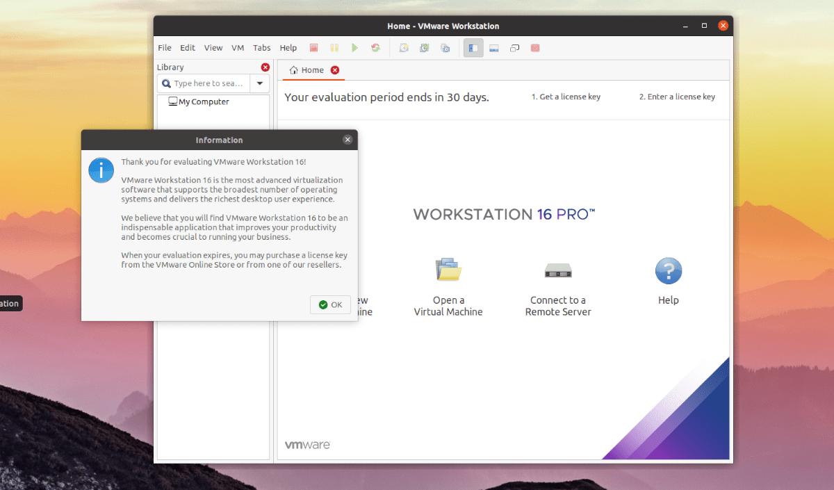 Ubuntu: VMware Workstation 16