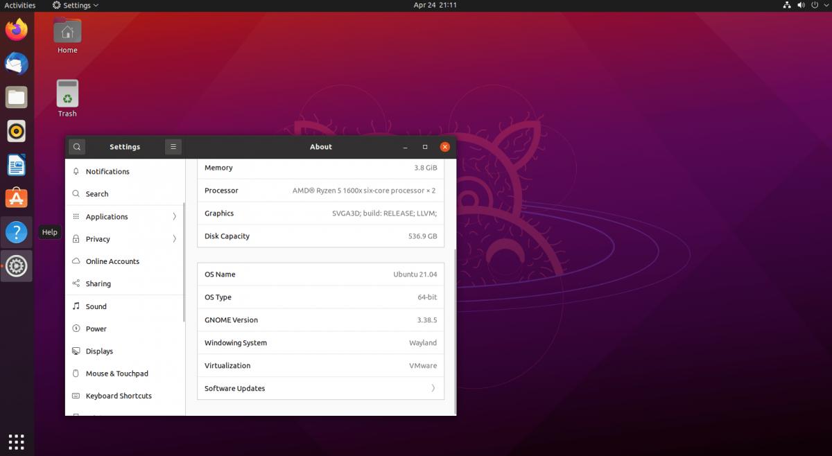 upgrade to Ubuntu 21.04
