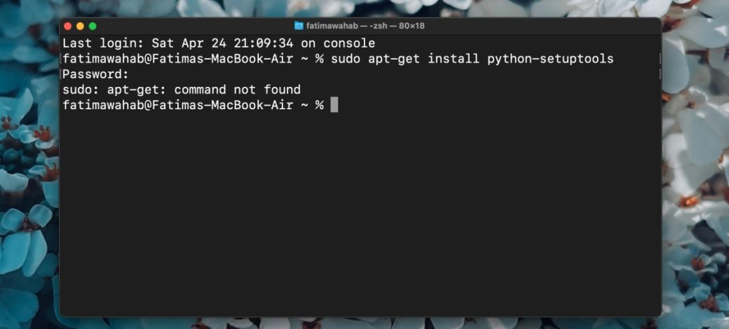Apt-get command not found on macOS