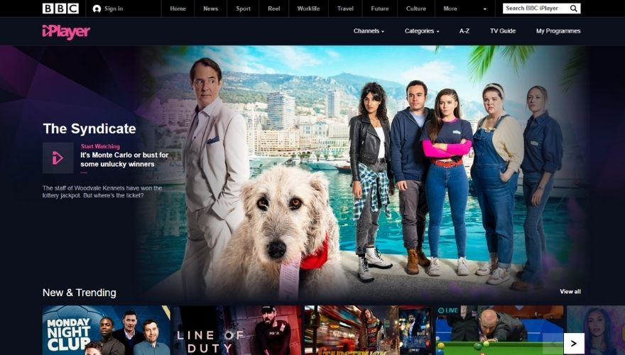 BBC iPlayer website
