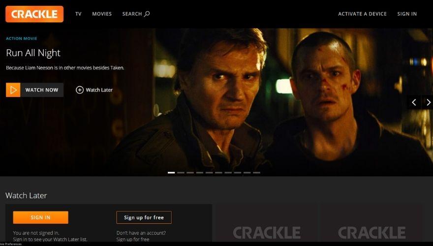 Crackle website
