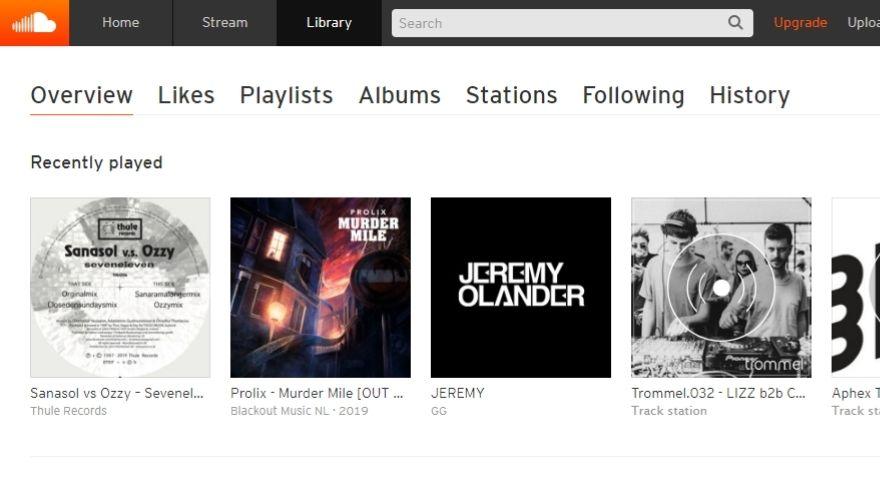 SoundCloud website