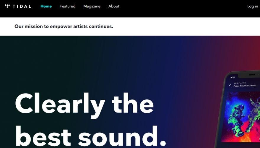 Tidal website