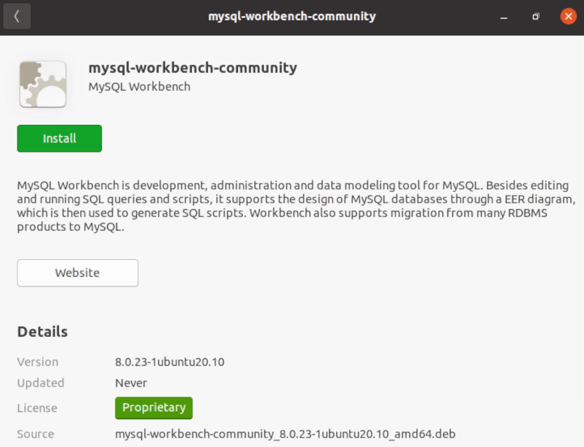 MySQL Workbench on Ubuntu
