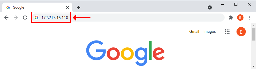 how to visit Google by IP address