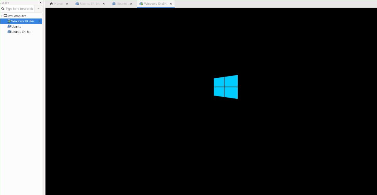 Windows 10 VM in VMware on Linux