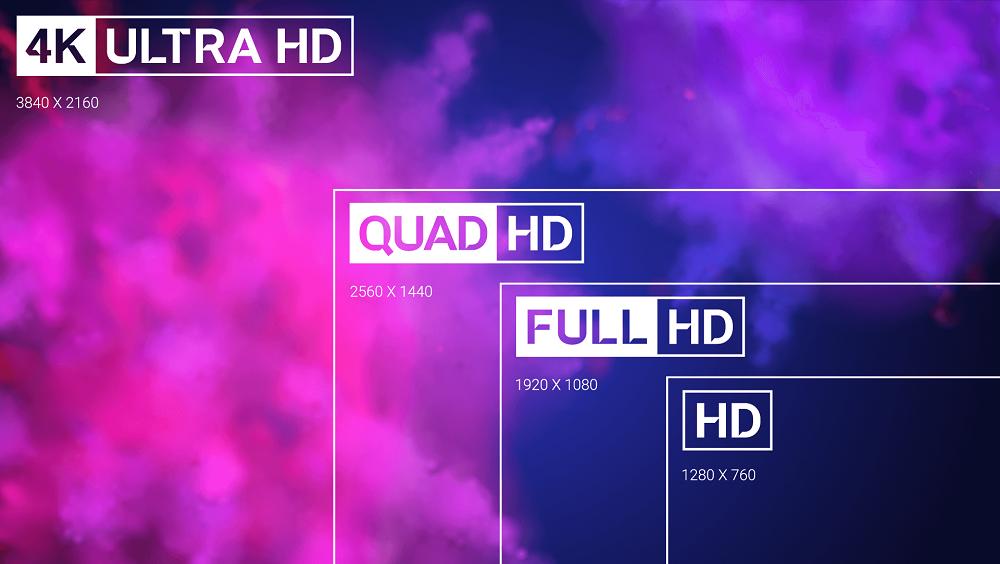 720p vs 1080p vs 1440p vs 2K vs 4K vs 8K