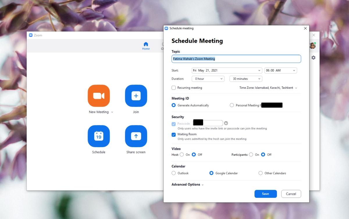 Schedule a meeting in Zoom – Desktop
