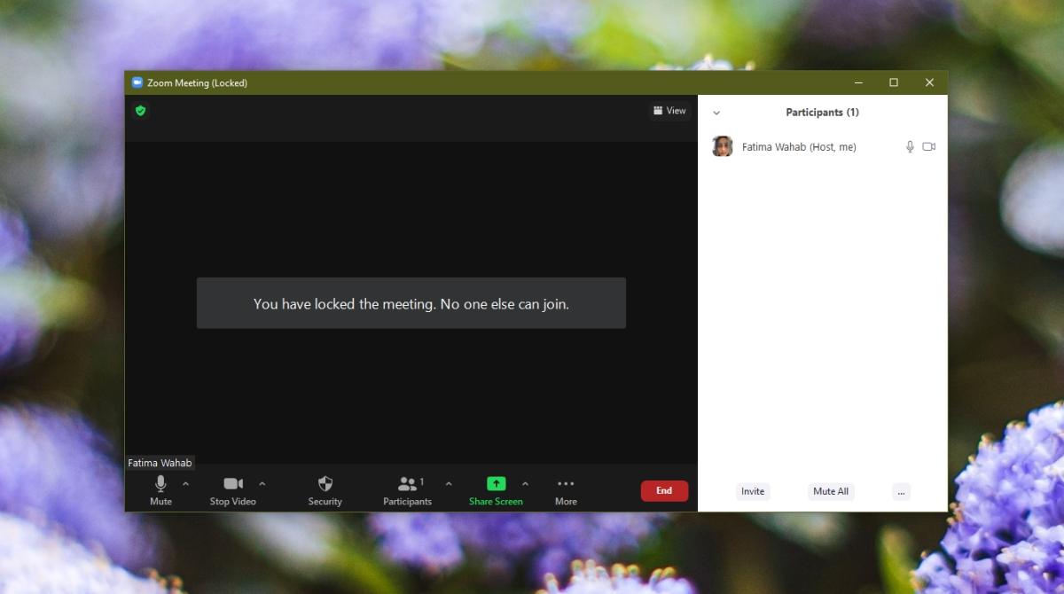 Zoom: lock meetings